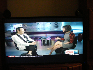 watching psy on cnn